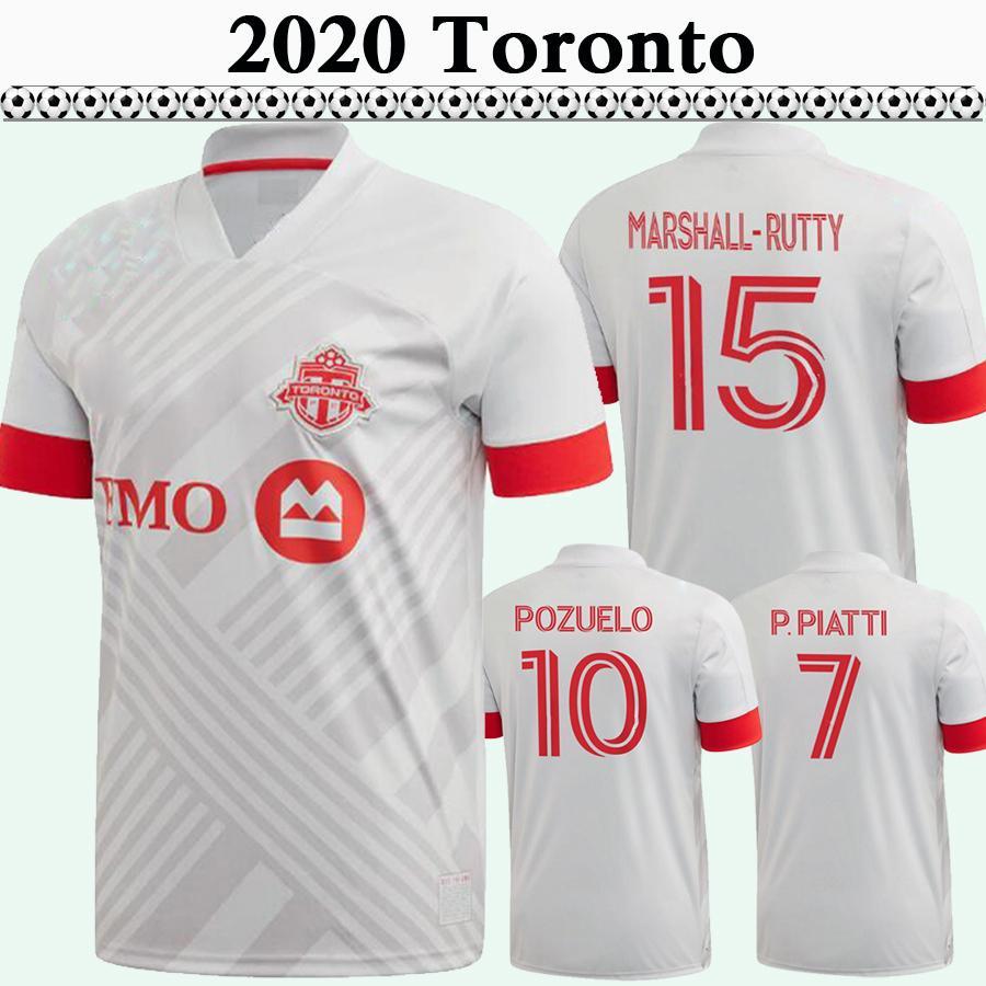 20 21 Bradley Pozuelo Altidore Mens Soccer Jerseys Nouveau Toronto FC Chemise de football blanc Chemise de football blanc Morrow Piatti Marshall-Rutty Osorio Jersey