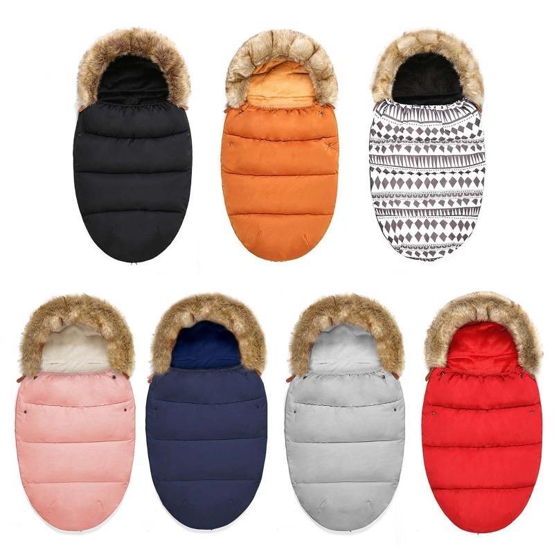 Baby Infant Stroller Footmuff Windproof Warm Sleeping Bag Swaddle Wrap Blanket W1218