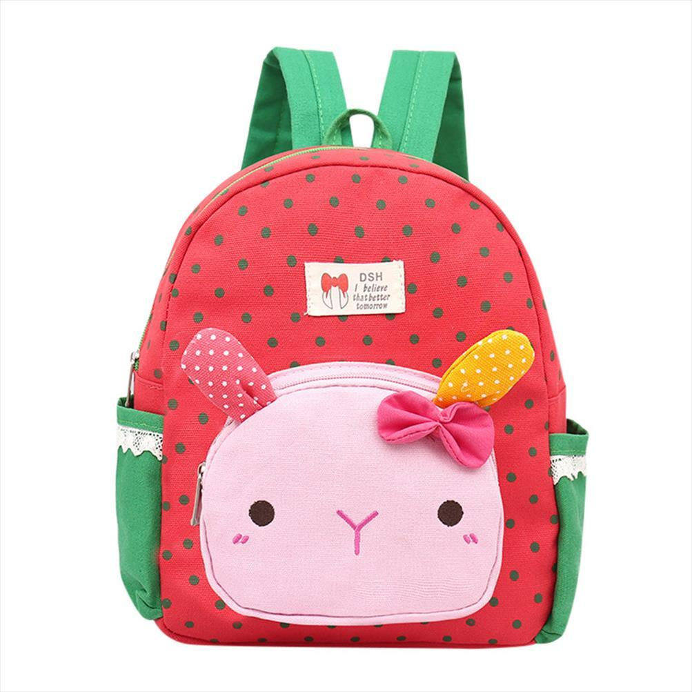 anti theft backpack Children Baby Girls Boys Kids Cartoon Rabbit Animal Backpack Toddler School Bag Preppy Style Soft Teenage