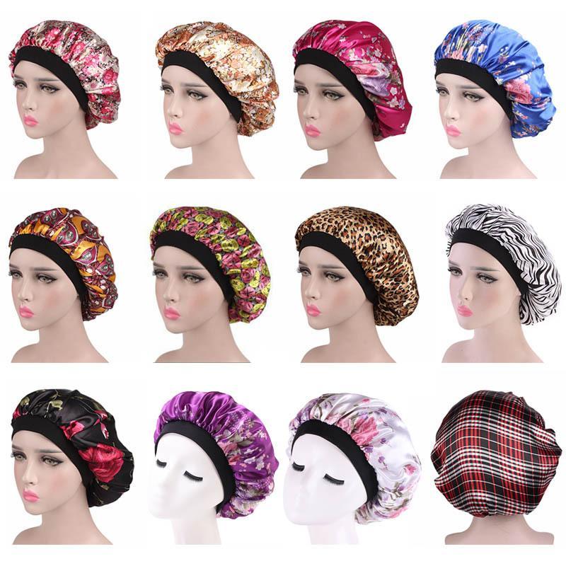 25 Stiller Yeni Ipek Saten Gece Kap Kadın Kafa Kapak Uyku Kap Kemo Şapka Satin Bonnet Güzel Saçlar için - Uyandırma Mükemmel Günlük