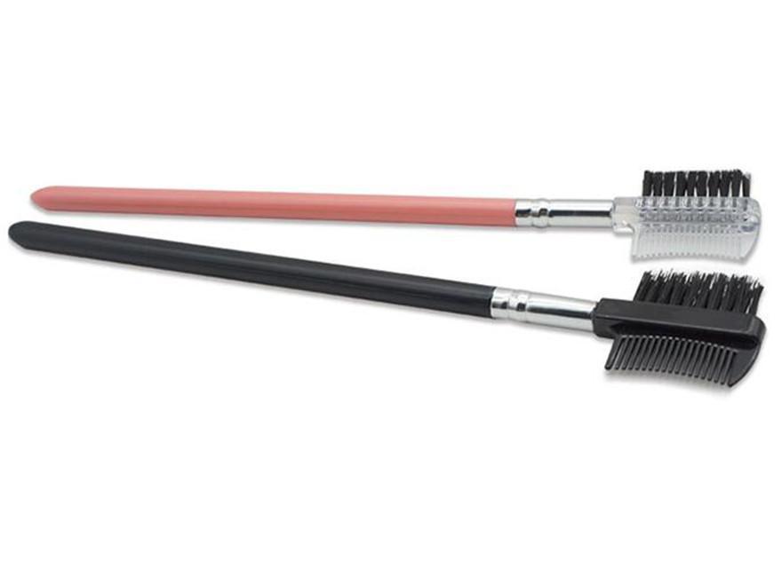 Ciglio spazzola 2 in 1 spazzola doppio sopracciglio pettine del sopracciglio della spazzola di trucco Strumenti