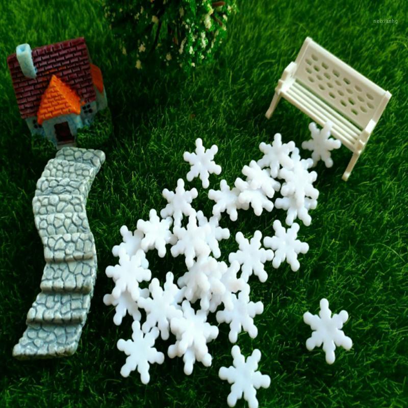 1.4CM Trident Snowflakes 200pcs Snowflake Christmas Party Hanging Pendants New Year Xmas Tree Ornaments Window Decoration1