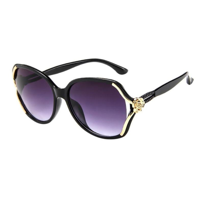 Hommes Big A8 Verre Nouveaux Lunettes de soleil Feminino Rose Femelle Soleil Cadre Vintage Sunglasses Femmes Femmes Lunettes de vue Mode Emmen
