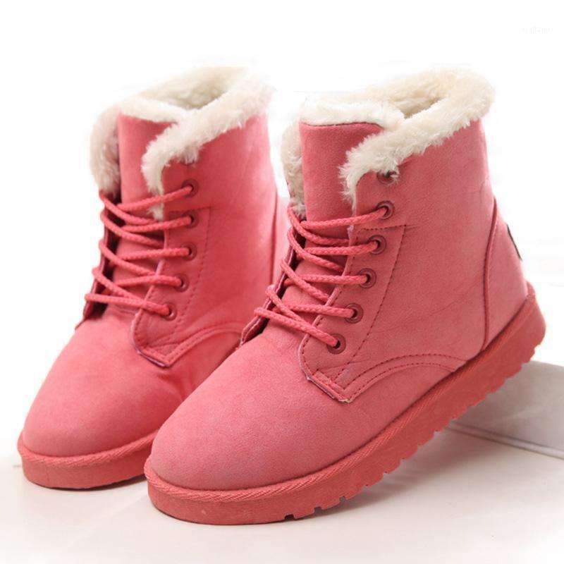 Femmes Bottes Femmes Bottes d'hiver Plus Taille 43 Neige avec des bottillons en peluche pour chaussures d'hiver Femme cheville Botas Mujer1