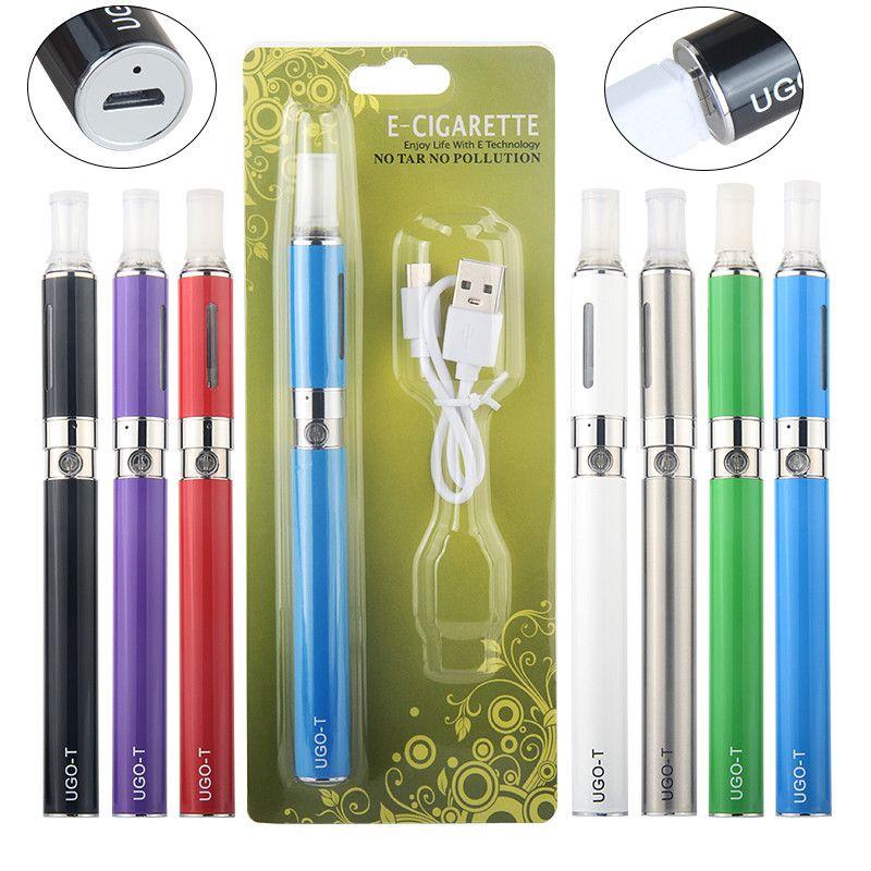Ugo T inferiore di sigarette carica Vape Pen Batteria elettronica eGo BCC Starter Kit con kit di CIGS MT3 vaporizzatore serbatoio Blister