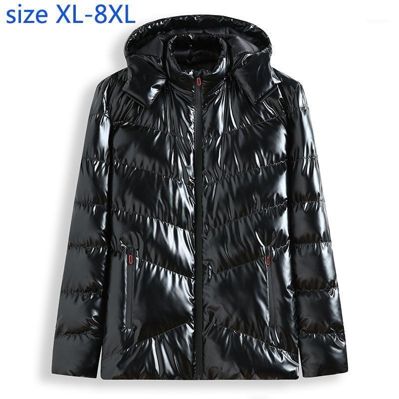 New Fashion Bright Padded Cotton Men Winter Warm Coat Casual Mandarin Collar Thick Winter Coat Men super large plus size XL-8XL1
