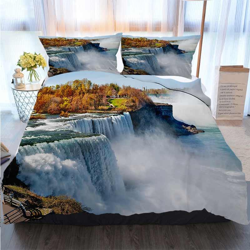 3D дизайнер постельного белья Niagara Falls Америка Side Солнечный день Home Luxury Soft Duvet Утешитель Обложка