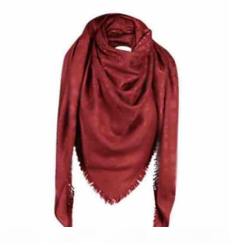 foulards de la soie femme foulards 4 foulards de saison Femme châle modèle modèle long col 4 feuilles trèfle filet carré foulard carré avec boîte