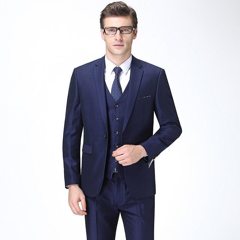 FreeshippingAutumn e inverno nuovo uomo vestito da uomo coreano business sottile gilet a tre pezzi vestito gioventù moda uomo