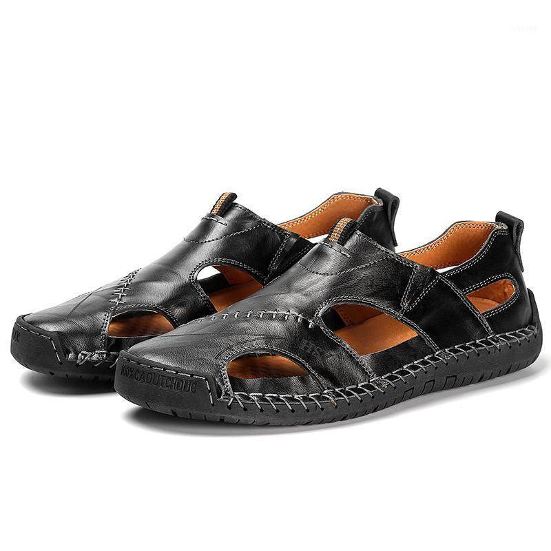 Sandali da uomo Sandali in vera pelle da uomo Pantofole da spiaggia All'aperto Leggero Scarpe da estate Estate Moda Sandali casual Zapatos de Hombre1