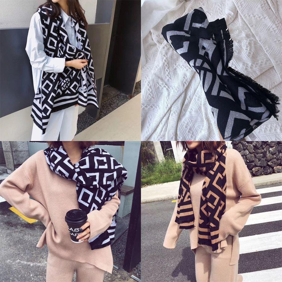 38 Colors Women Plaid Scarves Grid Tassel Shawl 140*140Cm Winter Neckerchief Lattice Square Blanket Scarf CYZ2853#290