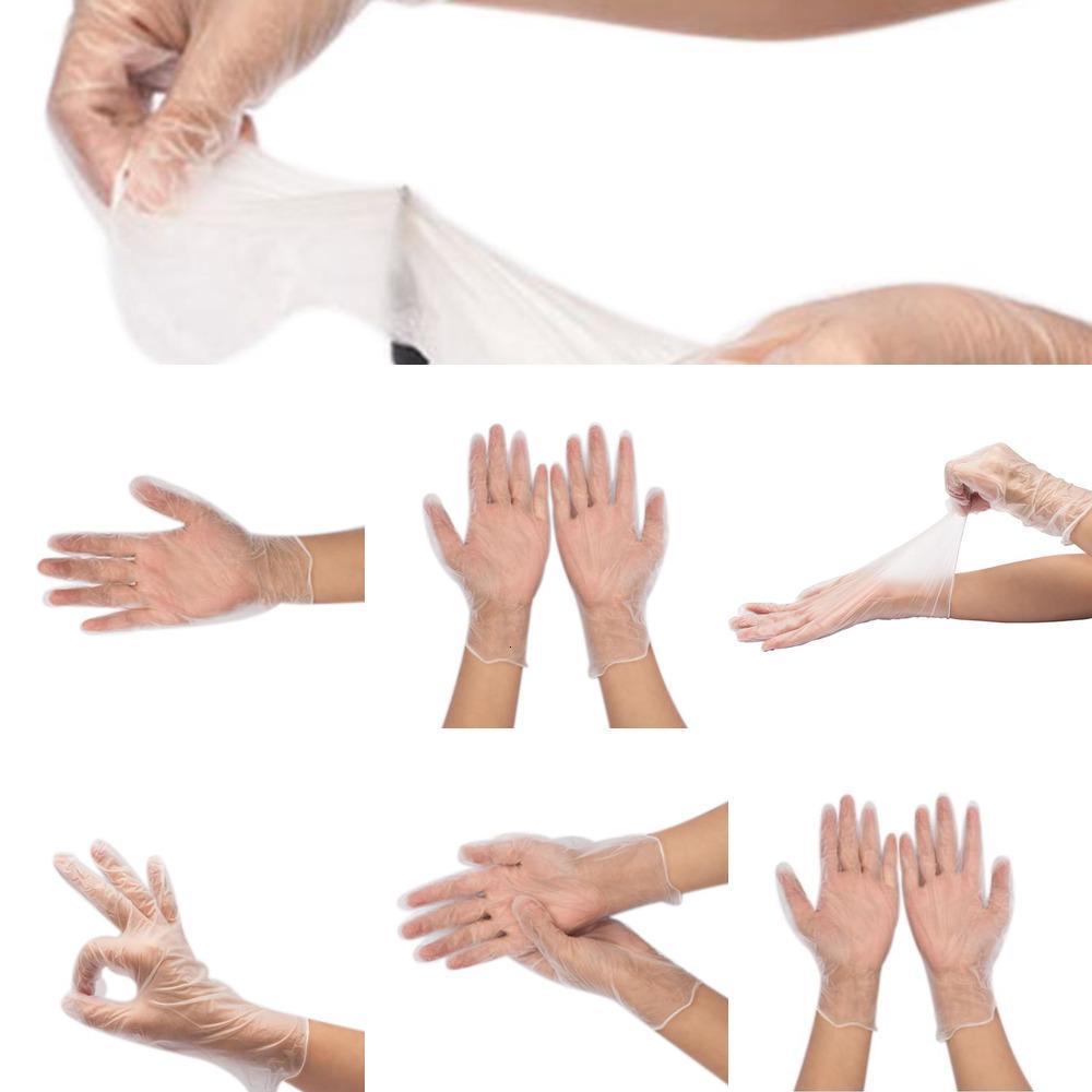 PVC Lateks Şeffaf Nitril Enerjili 100pcs Tek Sınav Su geçirmez Ev koruyucu eldivenler lar m loutlet3HO8