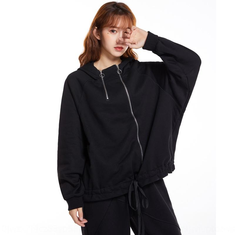 Fashion 2020 summer leisure fresh and sweet Korean women's Pullover Hooded Pullover sweater loose women's sweater THpc8