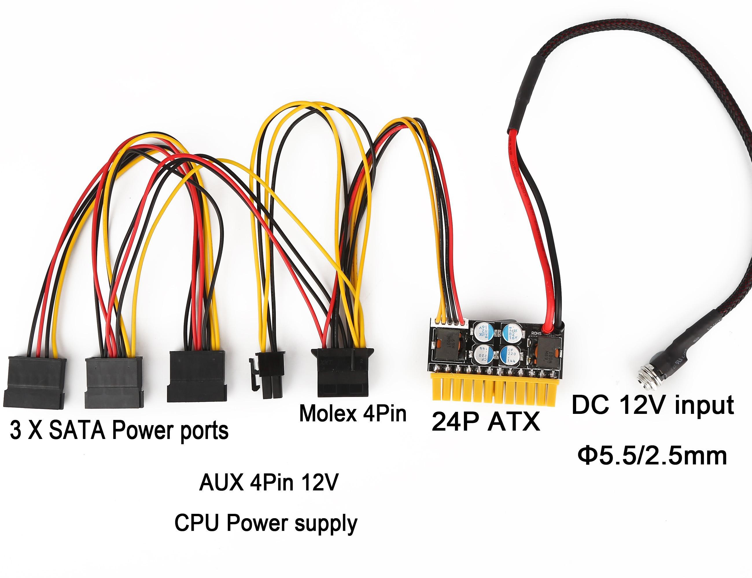 180W 12V DC ITX PC ATX PSU Supplie Mini Car Auto Mirco Pico Atom HTPC 1U Rackmount PC ATX ATX 24 PIN Switch Alimentatore