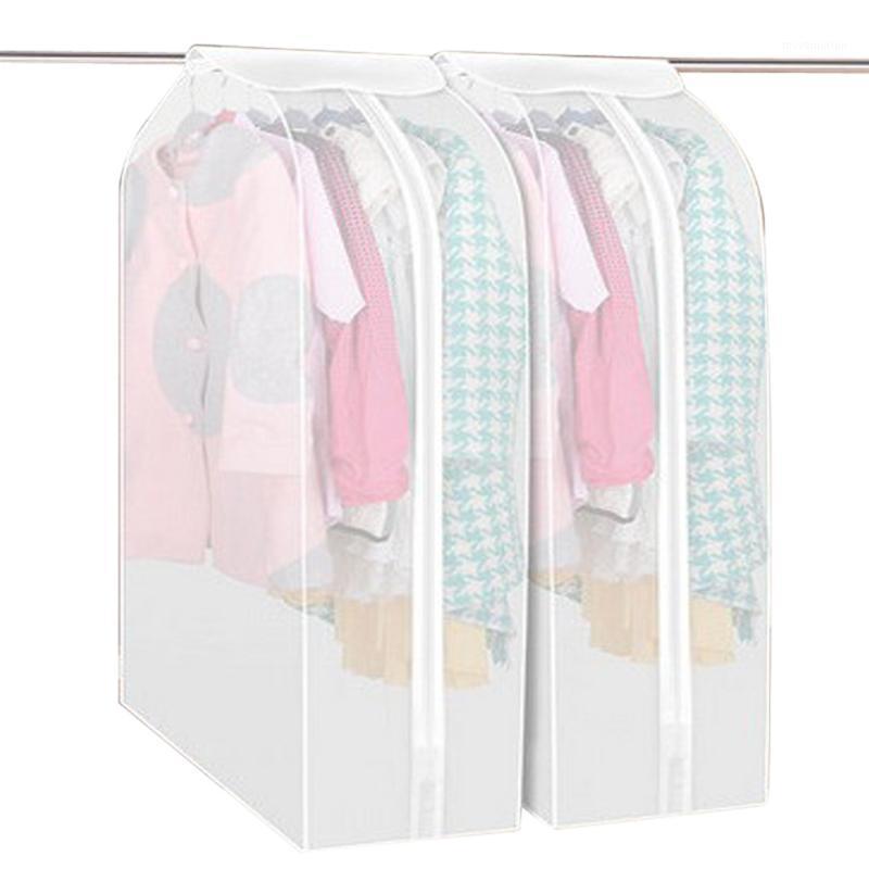 Couverture aux vêtements anti-poussière Armoire suspendue Organisateur Sacs de rangement Sacs Costume Poignée de poussière Protecteur Sac de rangement pour les vêtements 1