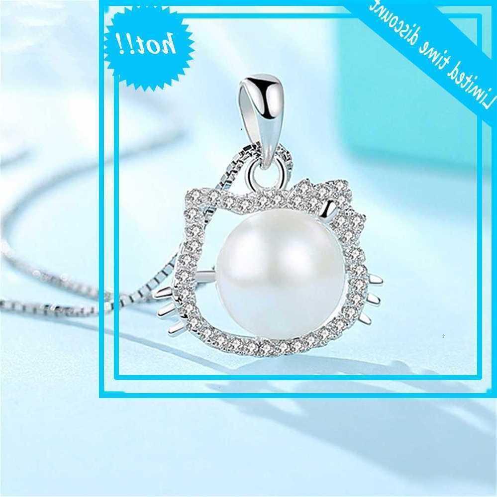 Корейский темперамент серебряный серебряный маоди Джейн универсальный KT кулон цепи ключицы Ni жемчужное кошка ожерелье