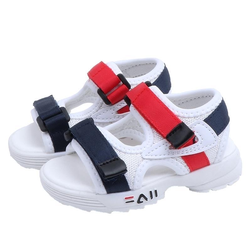 Été Nouveau enfant bébé enfant fille filles beach chaussures de plage doux bûche antidérapante sandales sportives loisirs 21-30 y201028