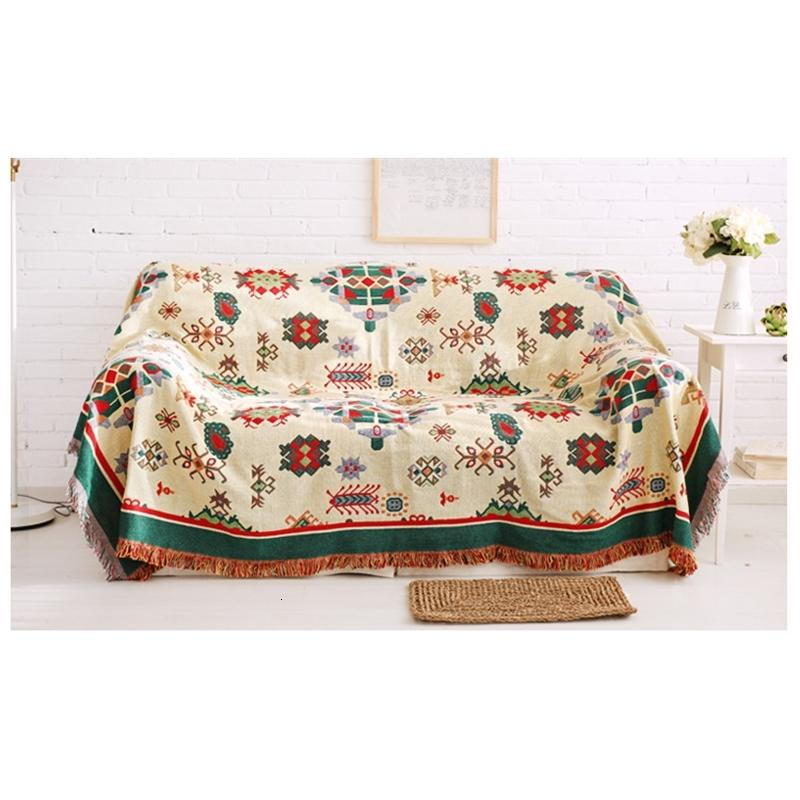 Bohemian for Living Room Geometric Bedspread Chair Sofa Cover Modern Throw Blanket Slipcover Home Decor U3HH