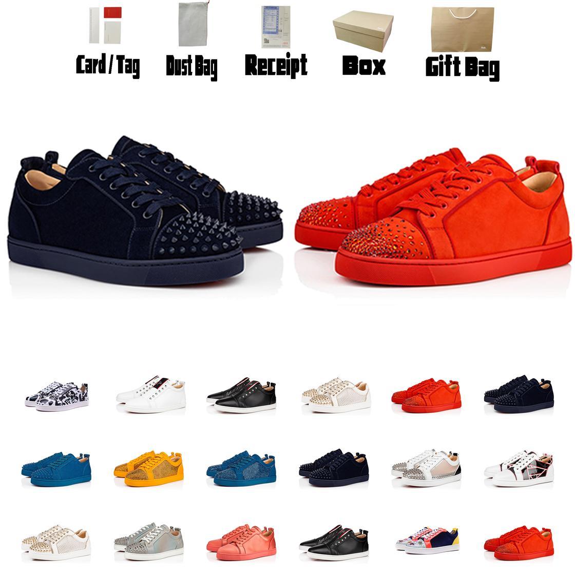 Luxurys Designers Sapatos Vermelho Bottom Men Sneakers Botas Botas Top Top Top Treinadores Botas Planas Tamanho US5-US13