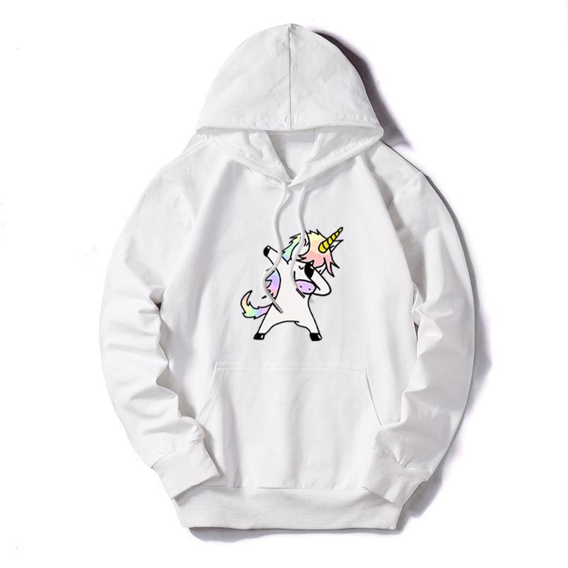 Licorne Imprimer bricolage Femmes Sweats Sweats à capuche solide Couleur Womens Casual Sweat-shirts Lady Mode Outdoor Sportwear manches longues