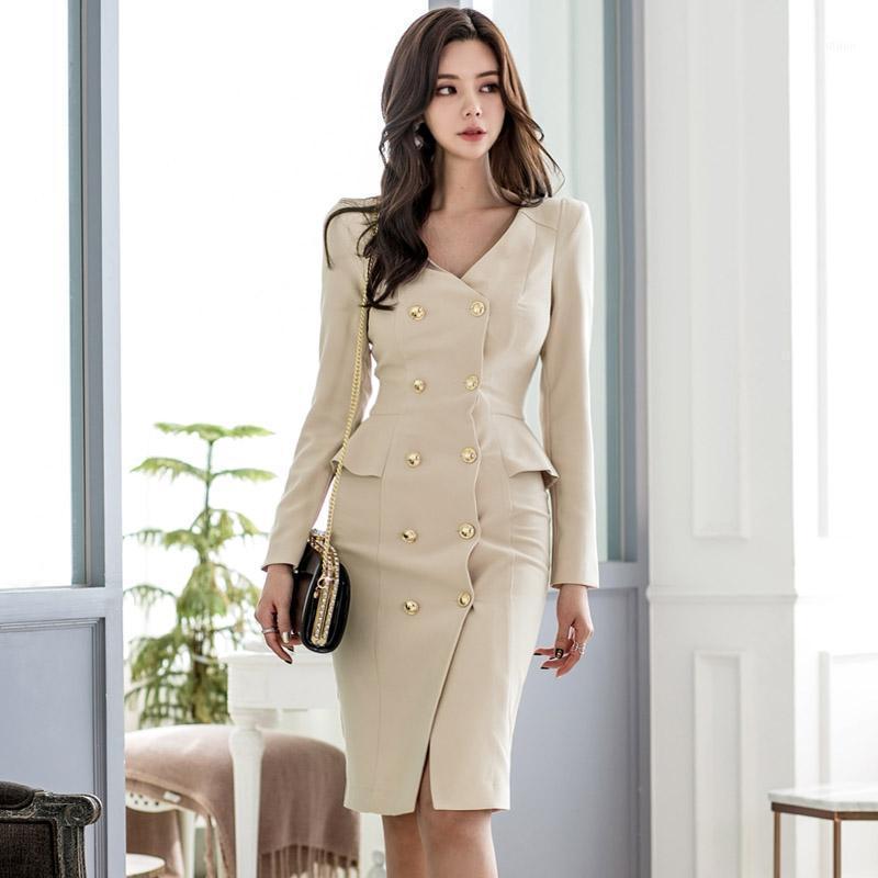 Abito moda donna abiti da primavera abiti casual ufficio signora elegante business party bodycon vestito vestiti vestiti1