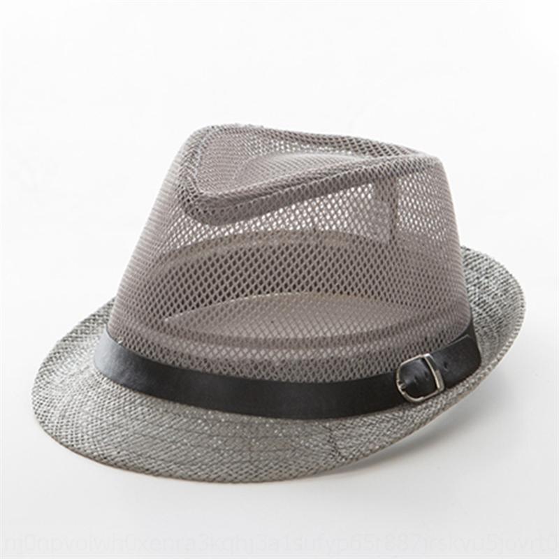 K3LWR Летняя мужская британская Top Girl's Jazz классическая сетка дышащая верхняя солнцезащитный крем соломы солнцезащитный крем шляпа шляпа катера