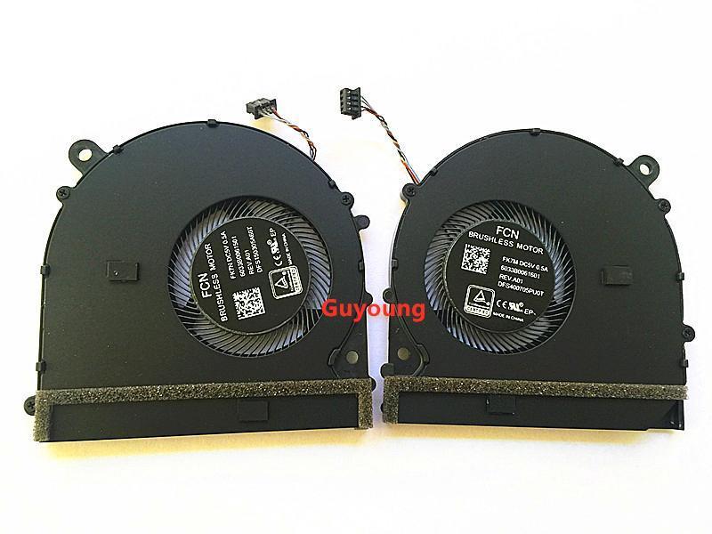"""NEW CPU originais de refrigeração GPU fã VIDEO Ventoinha esquerda direita para notebook PRO 15,6 mi ar Pro 15.6"""" GPU CPU"""