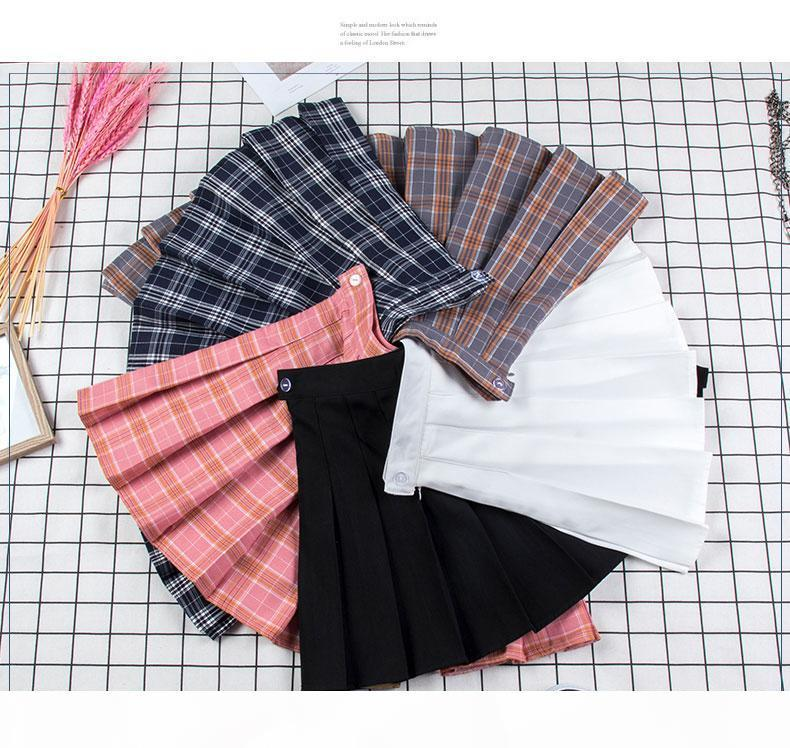 Pleated Mini Skirt Pink Pleated Satin Skirt Women's Fashion Slim Waist Casual Tennis Skirts school Vacation Female summer New