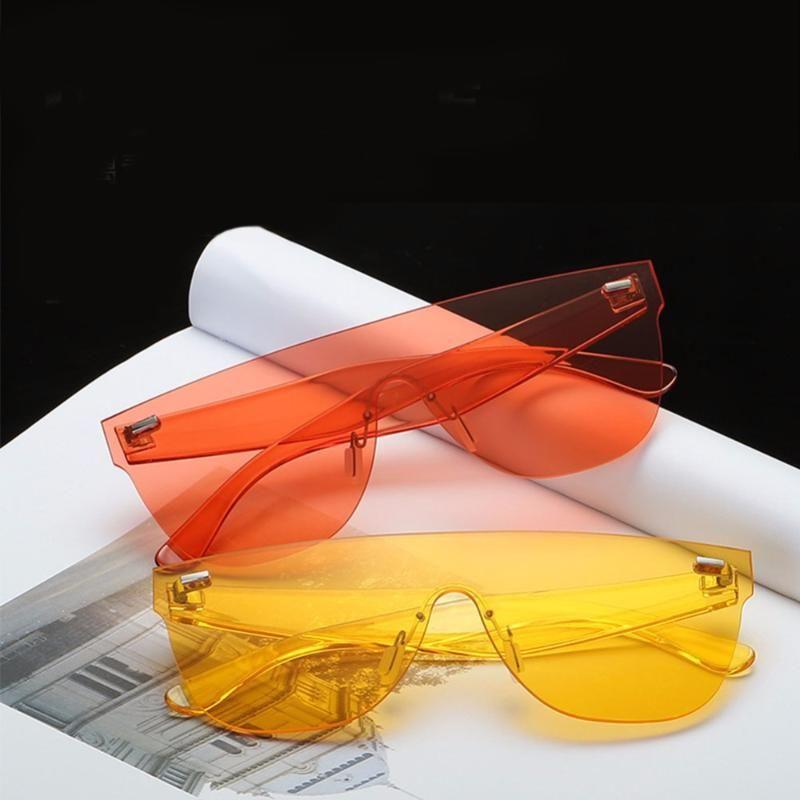 Süßigkeiten Farbe Sonnenbrille Frauen Square Blau Klare Sonnenbrille Damen Männer Fahren Eyewarg Niet Sonnenbrille # 245097