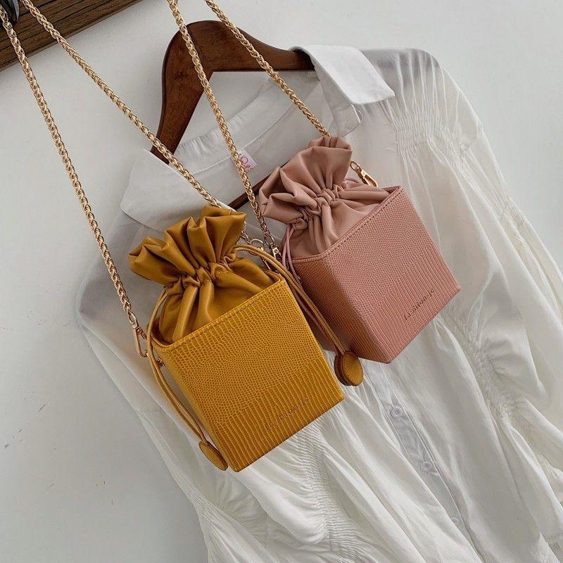 Ladies Moda Flap A MEVEO Crossbody Handbags Pequeños bolsos 2020 Bolsas Forma para SAC Box Bolsas principales Bolsas Magas Tohff Mujeres C1009 Bucket Drawst EQCB