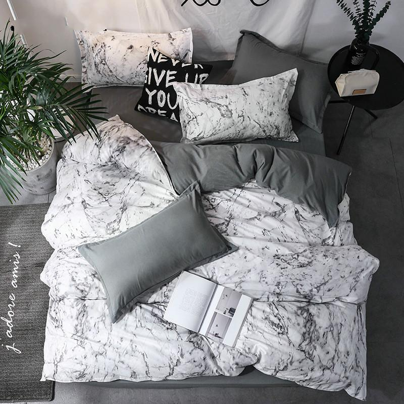 Yeni Varış Klasik Çift Taraflı Yatak Astarları Muhtasar Tarzı Yatak Seti Yorgan Kapak Yastık Kılıfı Yatak 3 adet / takım