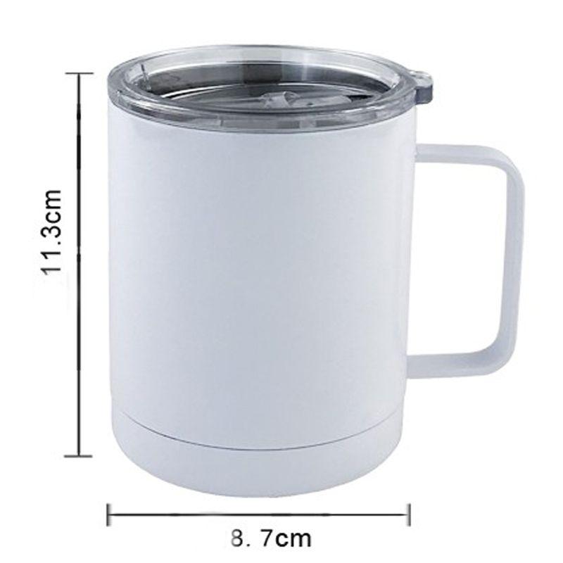 Sap DHD2261 ile ucuz 10oz Boş Kahve Kupa Kupa Ofisi Çift Duvar Sublime Insualted Vakum İçme Suyu Tumbler