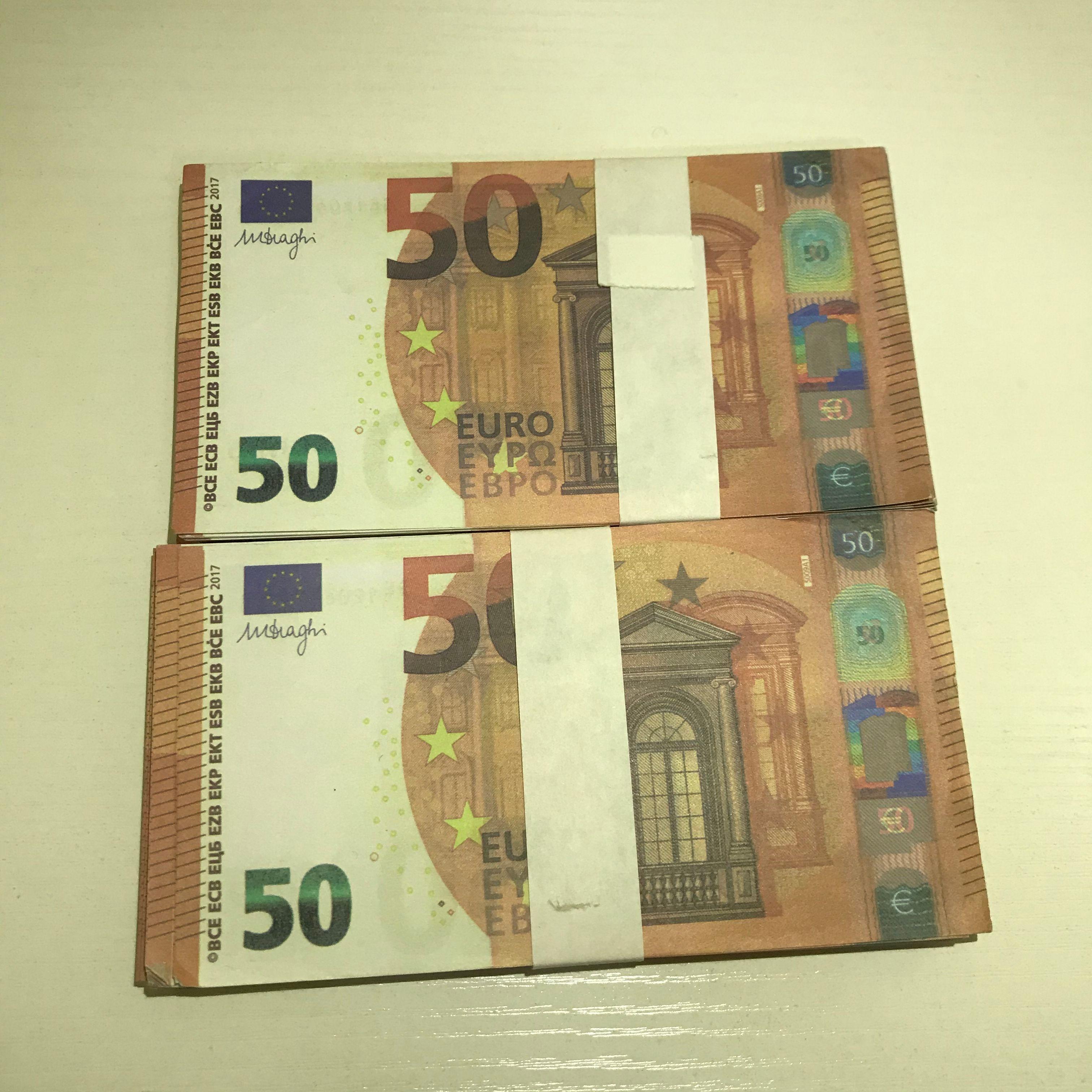 Atmosphäre Kopie MV Euro 50 Prop Banknote Spielzeug Le50-39 Party Gefälschungsbügel Bühne Hot Fälschung Schießprop DXTF XFTHT
