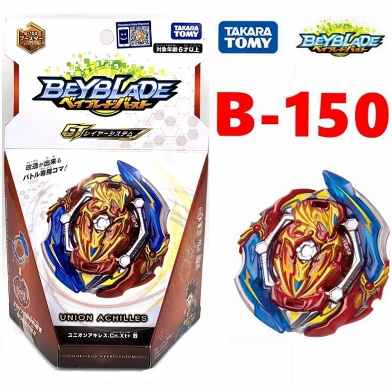 Оригинал Takara Tomy Beyblade Bread B-150 Union Achilles.cn.xt + Booster LJ201216