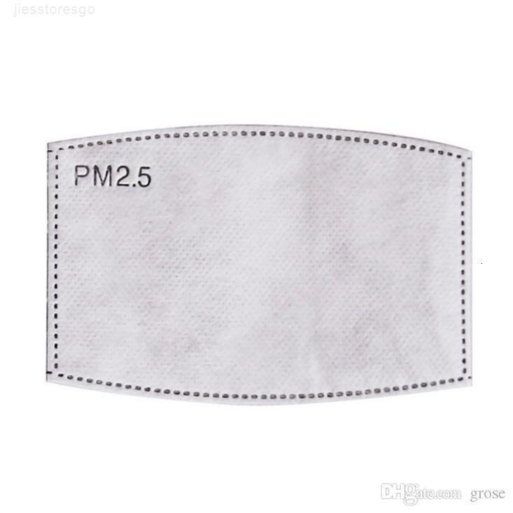Moda Tek Pad Karşıtı PM2.5 Değiştirilebilir toz geçirmez Anti-pus Nefes Conta Beş katlı Nonwoven Filtre Maske