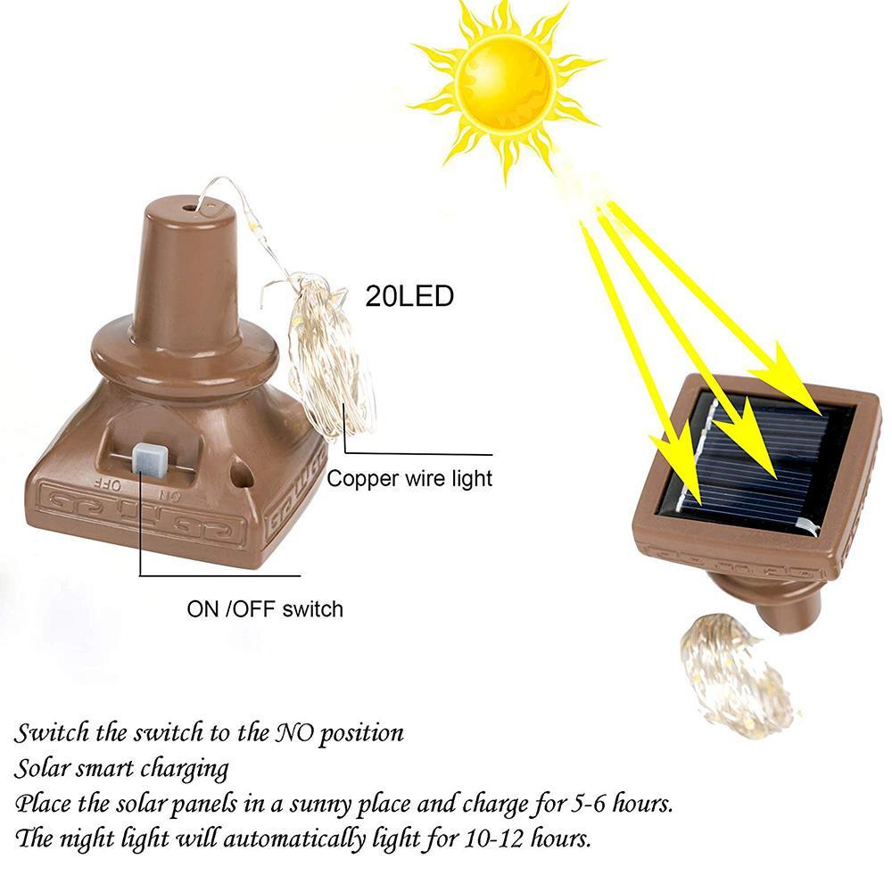 6pcs / lot 10/15/20 LED Solar Powered Garrafa de Vinho Cork Luzes Garland DIY do feriado do Natal Luzes Cordas para o casamento do Dia das Bruxas