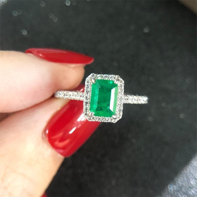Wong lluvia de la vendimia 925 diamantes de la plata esterlina de la piedra preciosa esmeralda compromiso de la boda joyería fina al por mayor de envío de la gota 201113