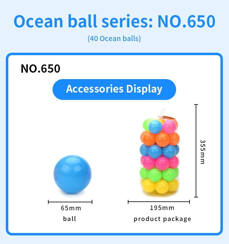 Kid entertainment toy Ocean ball set without holes high quality sports toys both boy and girl