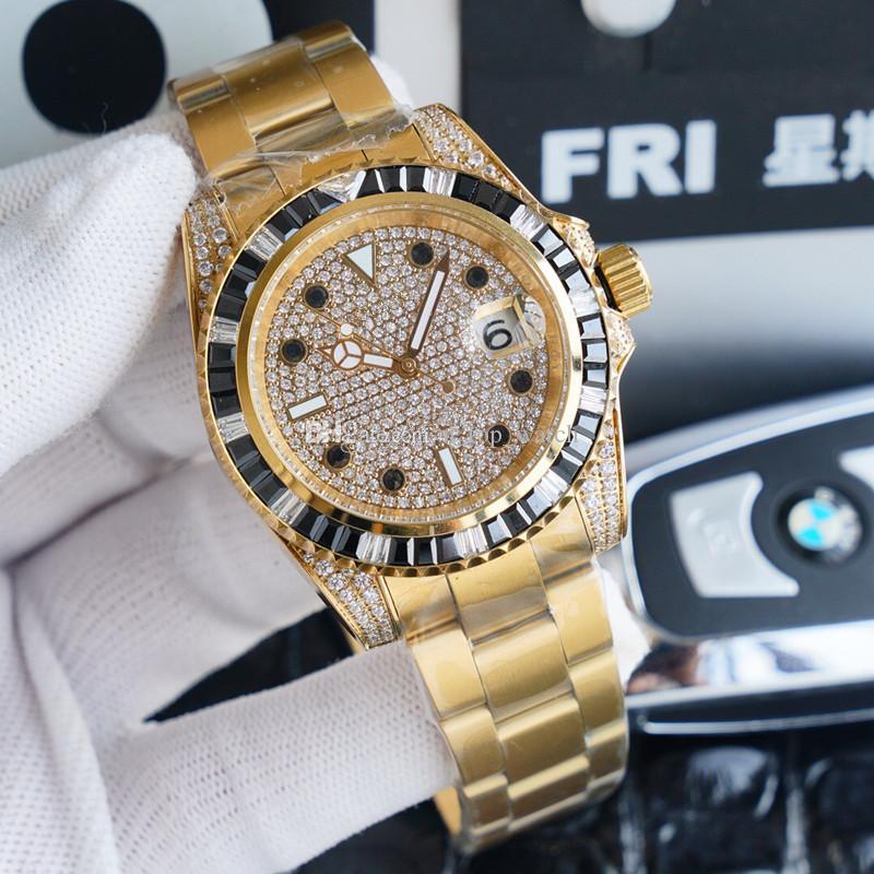 Пять стилей Мужские часы 40мм алмазом часы автоматические часы Montre люксусный Orologio ди Lusso Reloj де Lujo мужчины смотреть v2