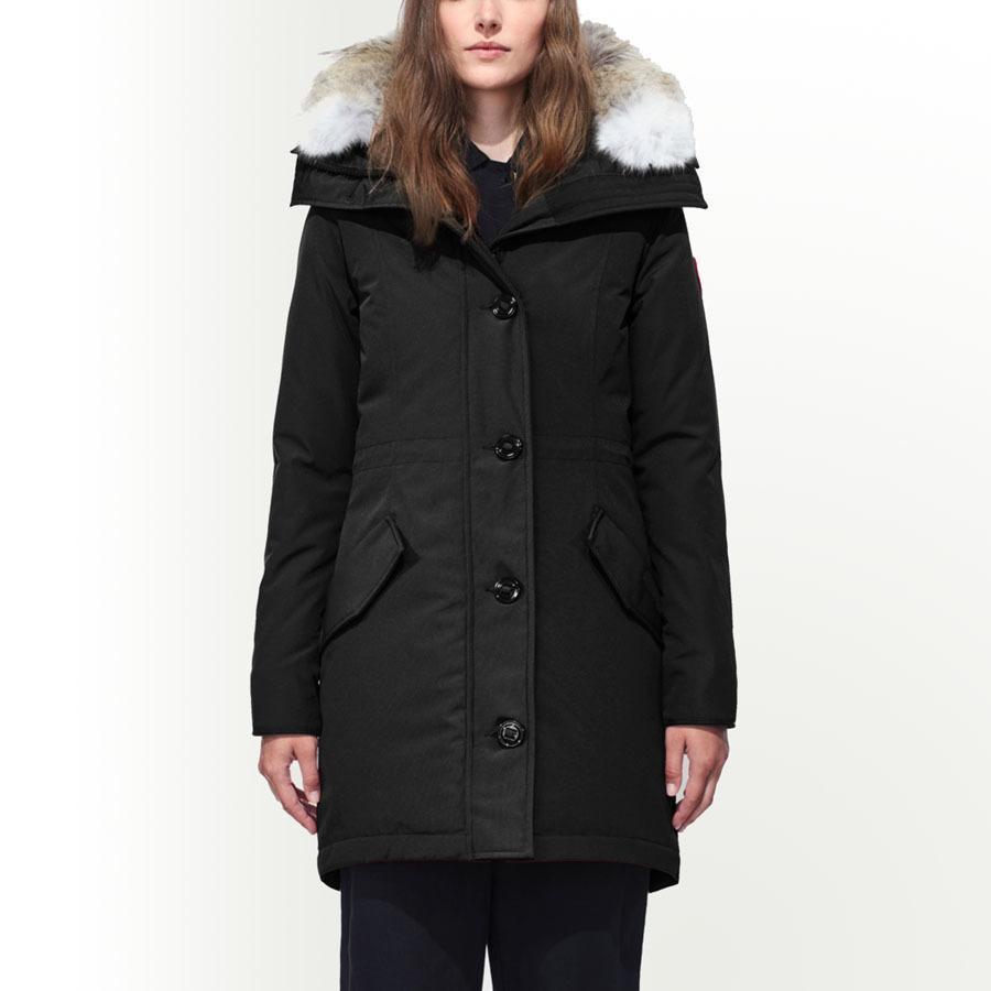 Новые женщины Canada Down Poats Rossclair Parka STYLE40 Толстые теплые зимние пальто с капюшоном с капюшоном