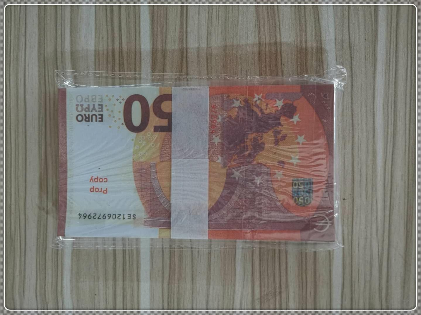 Bar Prop Copy Banknote Euro Counterfeit 50 Shooting Prop Toy Atmosphere LE50-09 Euboh Counterfeit Stage MV Hot Party Hfjpr