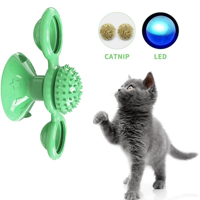 Fun Pet Cats Toys Whirling Puzzle Training Turntable Supplies Windmill Ball Type Interactive Kitten Play Cat Supplies