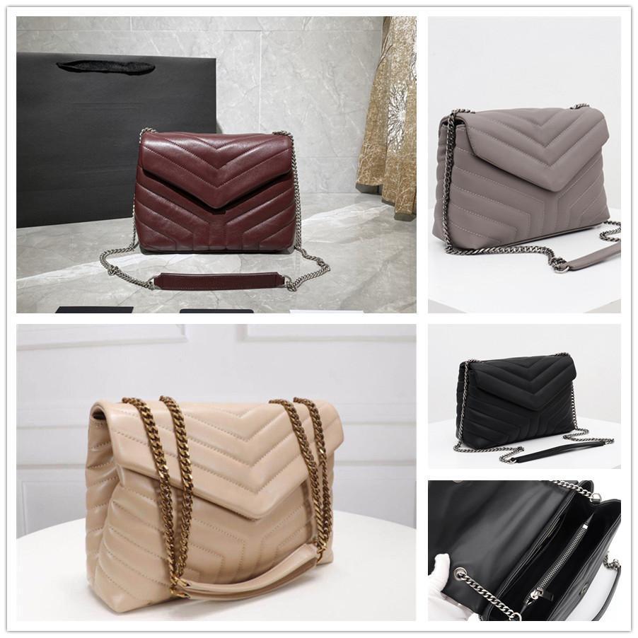 Großhandel Echtes Leder Hobo für Frauen Umhängetasche Für Frauen Brust Pack Lady Tote Ketten Handtaschen Presbyopische Geldbörse Messenger Bag Handtaschen