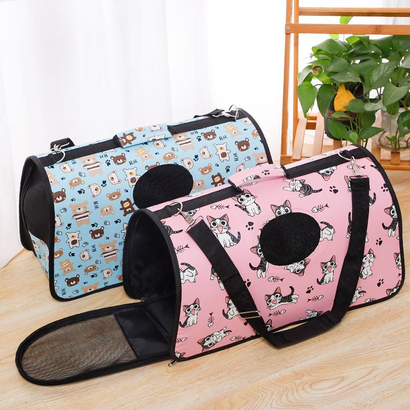 Pet Travel Carrier for Cats Dogs Soft Sided Pet Travel Bags Oxford Pet Supplies Bag Outdoor WaterProof Handbag