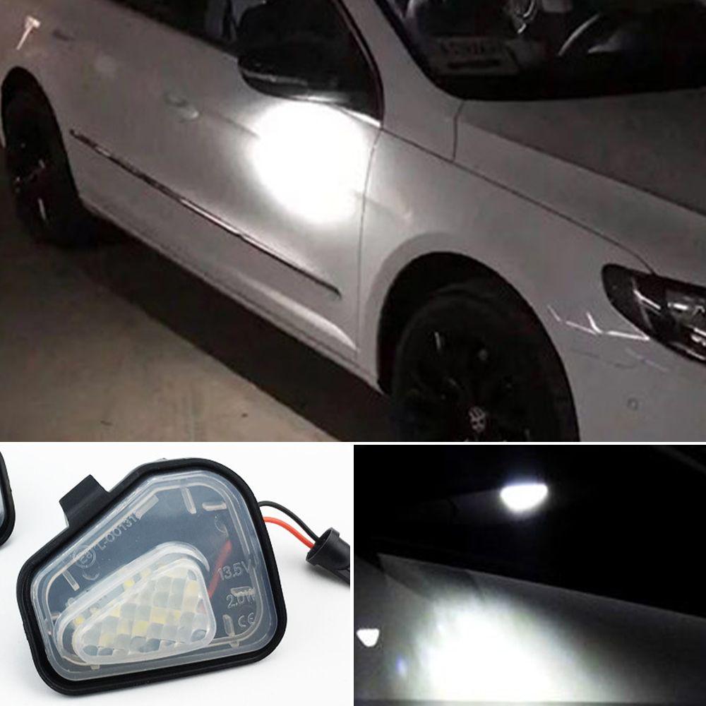 2pcs Canbus LED Miroir de côté lampe pour Puddle Lumières VW Volkswagen Jetta 10-15 / EOS 09-11 / Passat B7 2010 ~ / CC 09-12 / 09-14 Scirocco
