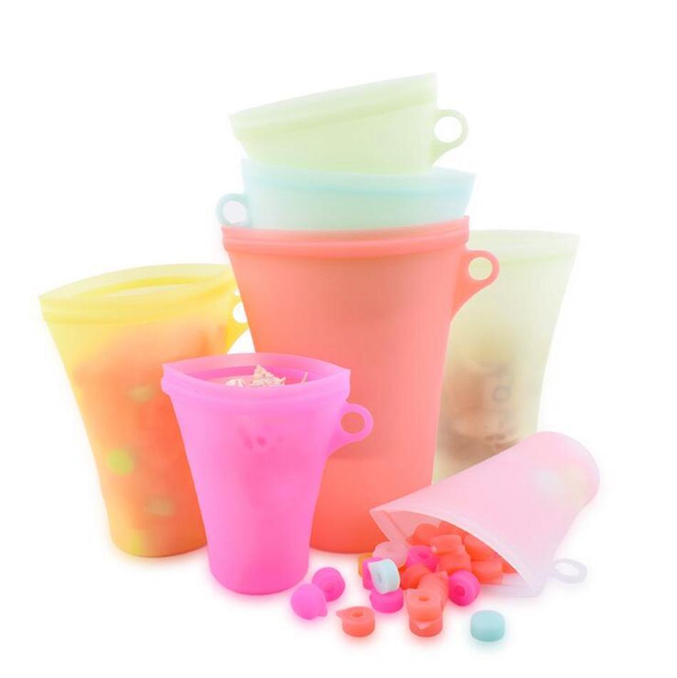 Bolsa de hogar Freezer Freezer Caja de almacenamiento Congelador Alimento y cubierta Práctico Sellado Fruta Color silicona silicona y delicado sólido OOC433 CWQR