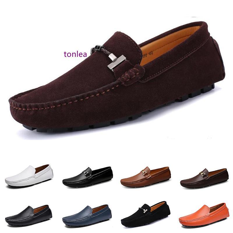 2020 hommes à bas prix des chaussures de sport triple Espadrilles chaussures en cuir pour hommes rouge vin blanc brun noir couleur de marche de jogging en plein air # 16