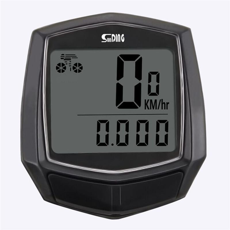 방수 자전거 컴퓨터와 LCD 디지털 표시 장치 자전거 주행 속도계 자전거 유선 스톱워치 승마 액세서리