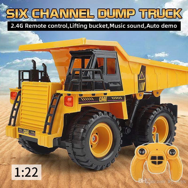 Alaşım uzaktan kumanda damperli kamyon mühendisliği araba modeli uzaktan kumanda araba oyuncak çocuk oyuncak çocuk hediye Süsler
