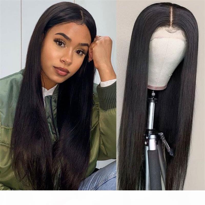 Peluca Popular Recto 360 Lace Wig Color natural Cabello humano Sin procesar Peruano Malasia India India Remy Pelucas de Pelo Deshuelva Encaje Sin Golpear Para Mujeres Negras